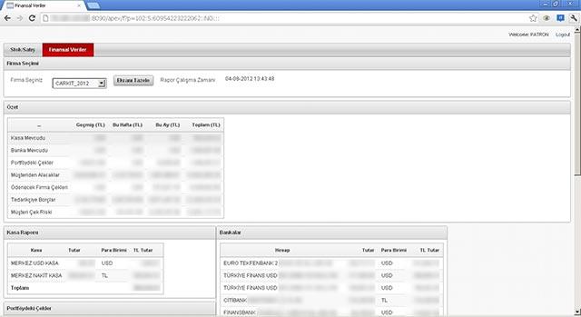 Oracle Apex Çarkıt Kablo Freedom ERP - 3